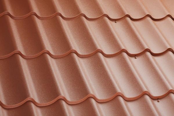 Dachplatten Dachziegelblech 350/15/0,5/ Matt 35µm - 11,44 Euro/m²