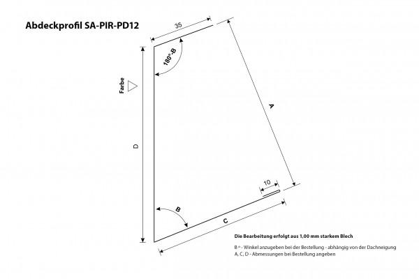 Abdeckprofil SA-PIR-PD12 Querschnitt