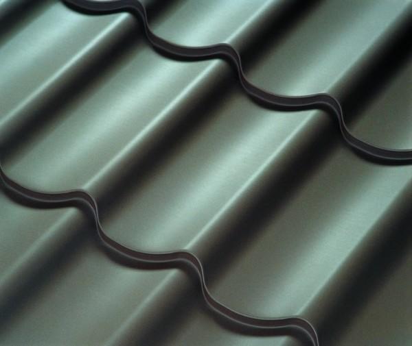 Dachplatten Dachziegelblech 350/15/0,5/ Purlak 50µm - 14,33 Euro/m²